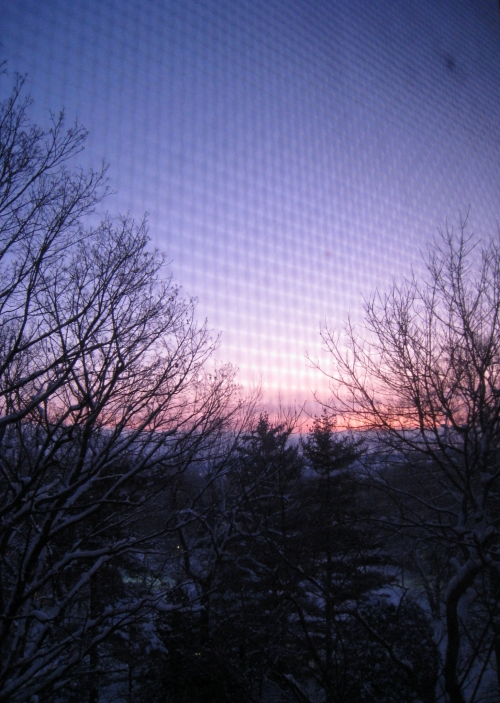 Sunrise from my dorm window
