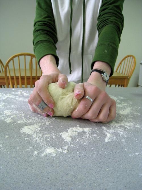 Me kneading