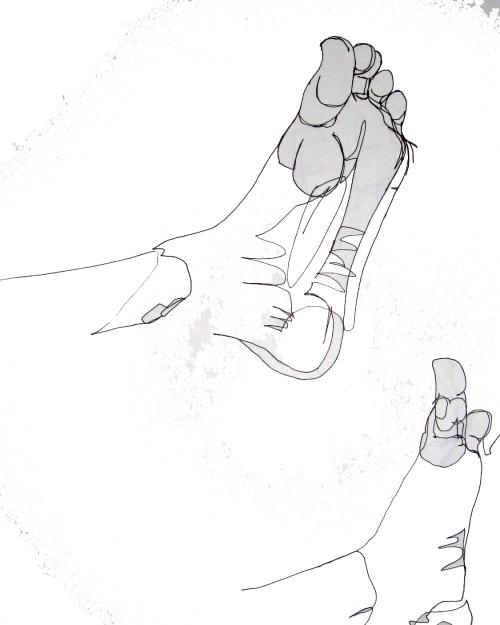 J's foot