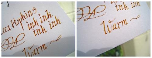 golden brown shading sample