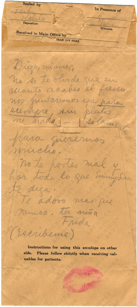 Frida Kahlo to Diego Rivera