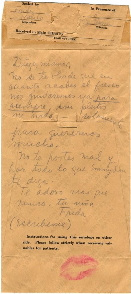 Frida Kahlo to Diego Rivera